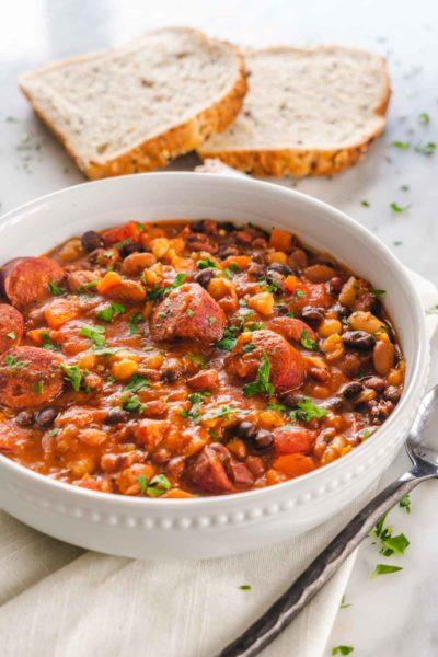 A Romanian style classic bean stew